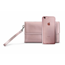 Iphone 8 Siliconen Cover + Clutch