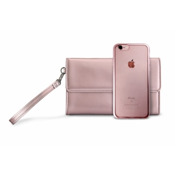iPhone 6/6S Siliconen Cover + Clutch