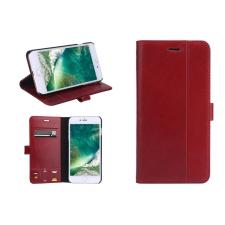 iPhone 7 / 8 Plus Genuine Leather Hoesje Zakelijke Uitstraling - Rood
