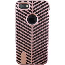 iPhone 7 Striped Bumper Hoesje 2 in 1 Rosé