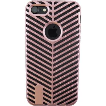 iPhone 7 Striped Bumper Hoesje 2 in 1 Rosé