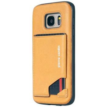 Samsung Galaxy S7 Origineel Luxe Back Cover Pas 100% Leer Geel