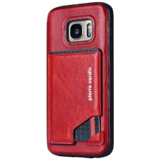 Samsung Galaxy S7 Origineel Luxe Back Cover Pas 100% Leer Rood
