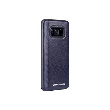 Samsung Galaxy S8 Origineel Luxe Back Cover 100% Leer Donker Blauw