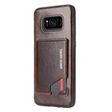 Samsung Galaxy S8 Plus Origineel Luxe Back Cover Pas 100% Leer Donker Bruin