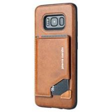 Samsung Galaxy S8 Origineel Luxe Back Cover Pas 100% Leer Licht Bruin