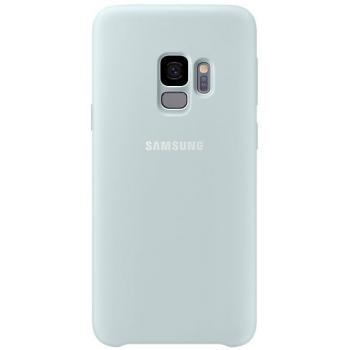 Originele Samsung Galaxy S9 silicone achterkant hoesje in licht blauw