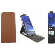Samsung Galaxy S8 Premium Flip Hoesje Bruin ECHT LEER