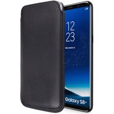 Samsung galaxy S8 Plus inschuif hoesje 100% Leer in Zwart