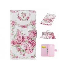Samsung Galaxy J3 2017 Bloemen Print Leer hoesje