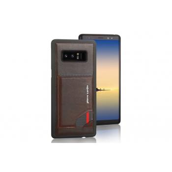 Samsung galaxy Note 8 Backcover Pierre Cardin Echt leer Bruin