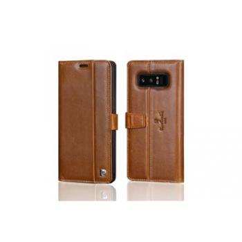 Samsung Galaxy Note 8 Book Case Pierre Cardin Echt leer Bruin
