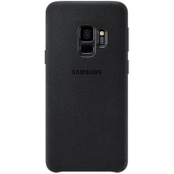 Originele Samsung Galaxy S9 luxe alcantara achterkant hoesje in het zwart