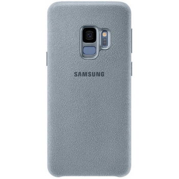Originele Samsung Galaxy S9 luxe alcantara achterkant hoesje in zwart