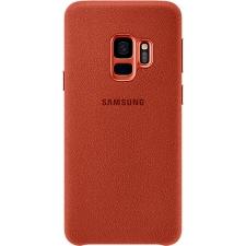 Originele Samsung Galaxy S9 luxe alcantara achterkant hoesje in rood