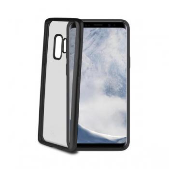 Samsung Galaxy S9 Plus transparante zwarte lasermatt hoes
