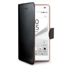 Sony Xperia Z5 Compact Echt Leer Hoesje Zwart