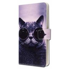 Samsung Galaxy J3 2017 Stoere Kat Print UPC Leer Hoesje