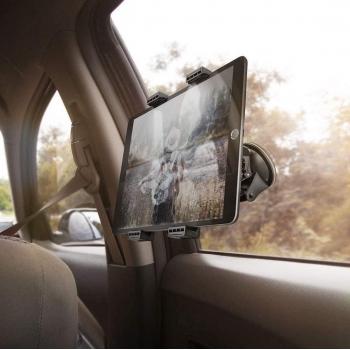 Stevige Universele iPad/Tablet houder auto (type 7 tot 12.1 inch) 360 graden draaibaar Stand met Zuignap