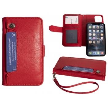 Hoesje iPhone 12/12 Pro Boekmodel - Rood