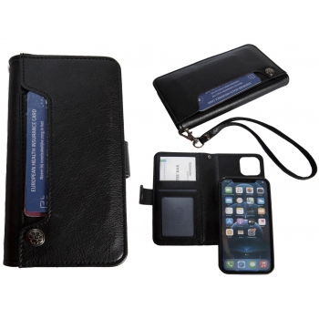 Hoesje iPhone 12/12 Pro Boekmodel - Zwart