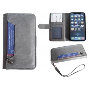Hoesje iPhone 12/12 Pro Boekmodel - Grijs