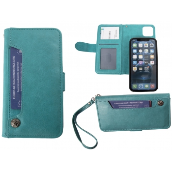 Hoesje iPhone 12/12 Pro Boekmodel - Turquoise
