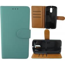 Motorola Moto G4 100% Leer Hoesje Turquoise