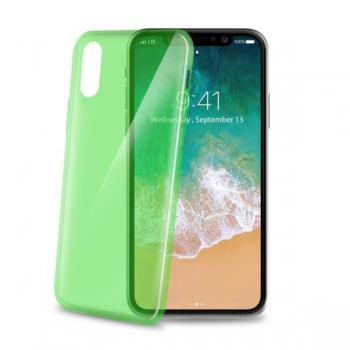 Celly Ultra Thin for iPhone X Groen