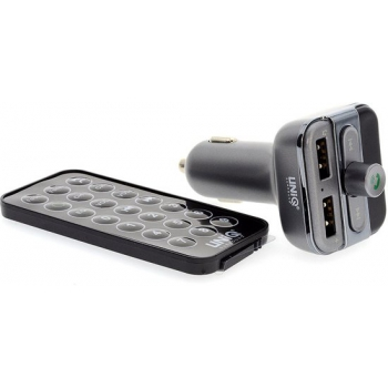 Bluetooth FM Transmitter Grijs USB SD AUX