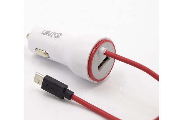 Micro-USB oplader voor in de Auto in Wit