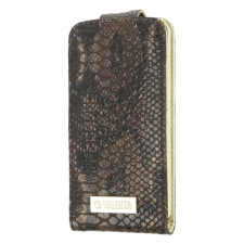Valenta Flip Animal Snake Brown Galaxy S4