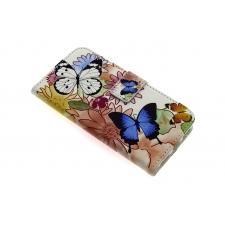 iPhone 7 'Vlinders en Bloemen' Print Eco-Leer Hoesje