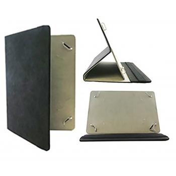 Universeel tablet leren bookcase 8-11 inch in zwart
