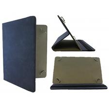 Universeel tablet leren bookcase 8-11 inch in Donker Blauw
