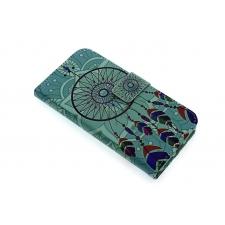 iPhone 7 'Dromenvanger Turquoise' Print Eco-Leer Hoesje
