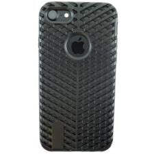 iPhone 8 Striped Bumper Hoesje 2 in 1 Zwart